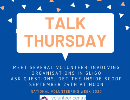 "Meet the volunteers! Join ""Talk Thursday"", September 24th at 12pm"
